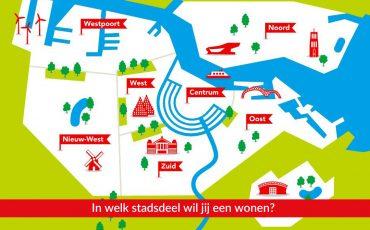 In welk stadsdeel in Amsterdam wil jij een woning kopen